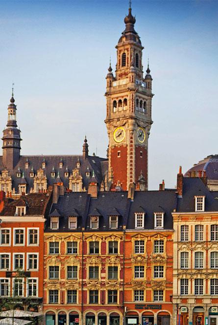 ville de Lille vue de la place du général de Gaulle